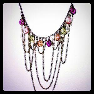Rainbow drape necklace
